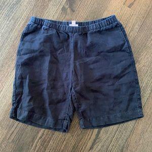 J.Jill 100% Linen Stretch Black SP Pull On Shorts